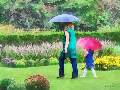 Rainy Photograph - Rainy Day In The Garden by Susan Savad