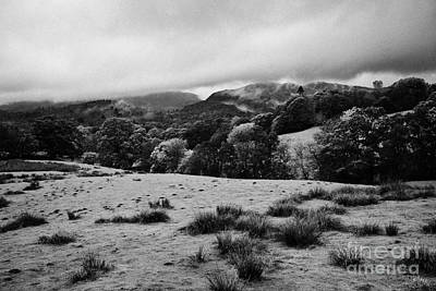 Rainy Day Photograph - Rainy Day In The Lake District Near Loughrigg Cumbria England Uk by Joe Fox