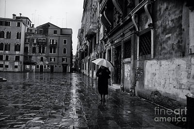 Rainy Day In Venice Print by Design Remix