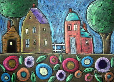 Oil Pastel Painting - Rainy Day by Karla Gerard