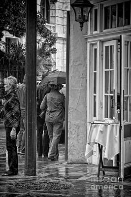 Bloody Mary Photograph - Rainy Day Lunch New Orleans by Kathleen K Parker