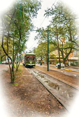St Charles Digital Art - Rainy Day New Orleans Vignette by Steve Harrington