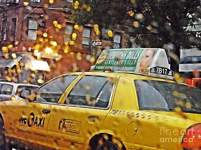 Rainy Day Nyc Print by Sarah Loft