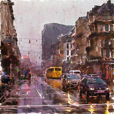 Rainy Day Traffic Print by Marian Voicu