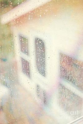 Rainy Day Window Print by Kay Pickens