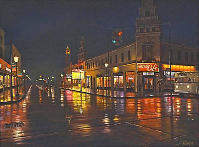 Rainy Night-117th And Detroit     Print by Paul Krapf