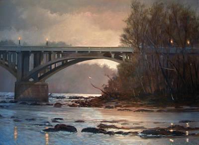 Rainy River Print by Blue Sky