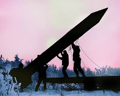 Raising Photograph - Raising A Dummy Missile During An by Science Source