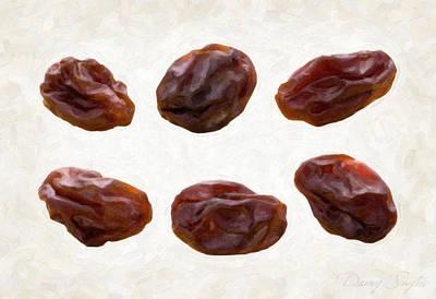 Raisins Print by Danny Smythe
