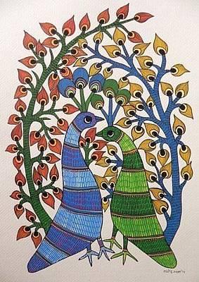 Gond Art Painting - Raju 131 by Rajendra Kumar Shyam