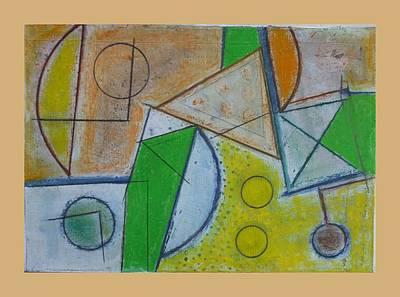 Raku Painting - Raku.5. Let It Be.06 by Peter-hugo Mcclure