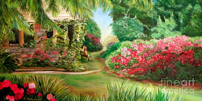 North Carolina Painting - Rose Garden by Shelia Kempf