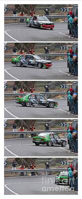 Pentaptych Photograph - Rally Car Spin Sequence by Andy Holmes