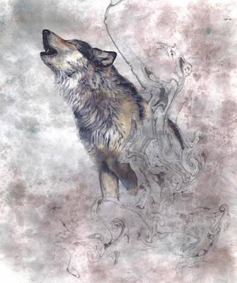 Wild Wolf Mixed Media - Rally by Joelle Bhullar