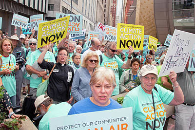 Rally To Support Coal Burning Limits Print by Jim West