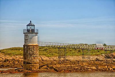 Coastal Maine Photograph - Ram Island Lighthouse by Karol Livote