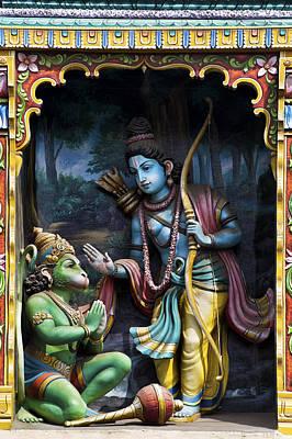 Deity Photograph - Rama And Hanuman  by Tim Gainey