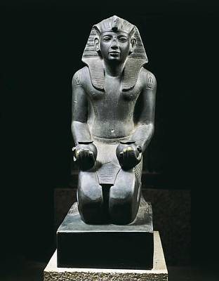 Statue Portrait Photograph - Ramesses Iv. Ca. 1150 Bc. 20th Dynasty by Everett