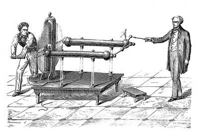 Ramsden Electrostatic Generator Print by David Parker