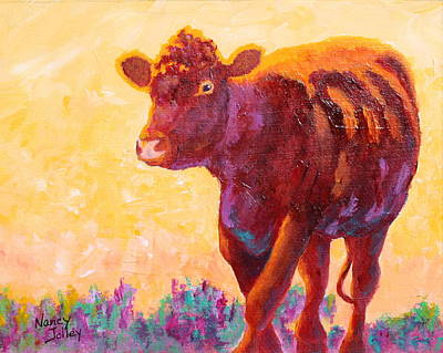 Steer Painting - Ranch Hand by Nancy Jolley