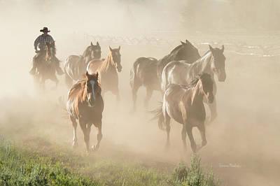 Ranch Horses Print by Ramona Murdock