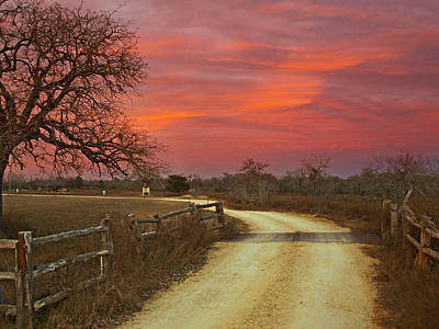 Ranch Under A Blazing Sky Print by James Granberry