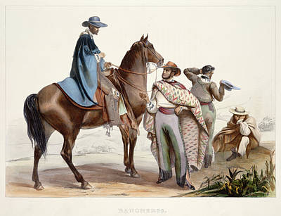 Rancheros Print by British Library