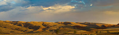 Ranchland In Late Afternoon, Wyoming Print by Panoramic Images
