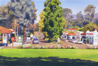 Rancho Santa Fe California Print by Mary Helmreich