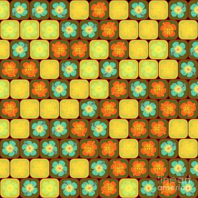 Random Hibiscus Pattern Print by Gaspar Avila