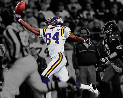Randy Moss Print by Brian Reaves