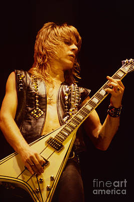Concert Photograph - Randy Rhoads At The Cow Palace In San Francisco by Daniel Larsen