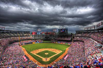 Rangers Ballpark In Arlington Print by Shawn Everhart