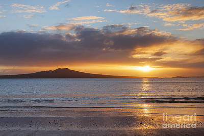 Rangitoto Sunrise Auckland New Zealand Print by Colin and Linda McKie