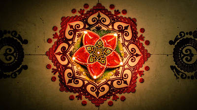 Rangoli Digital Art - Rangoli @ Diwali by Rakshit Pitalia