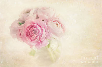 Flypaper Textures Photograph - Ranunculus by Marion Galt