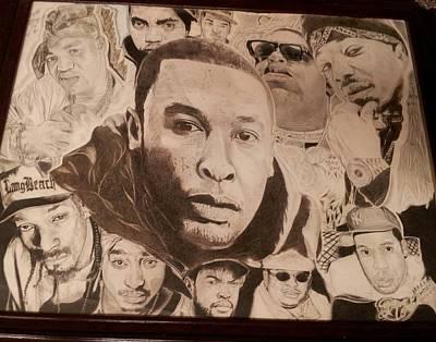 Jay Z Drawing - Rap Immortalized by Demetrius Washington