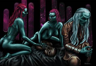 Boobies Digital Art - Rape Of The Asgard by Ian Oliver