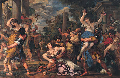 Pietro Da Cortona Painting - Rape Of The Sabines by Pietro da Cortona