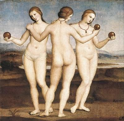 Raphael 1483-1520. The Three Graces Print by Everett