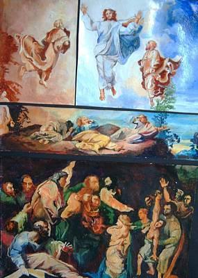 Transfiguration Painting - Raphael's Transfiguration by Michael Hogan