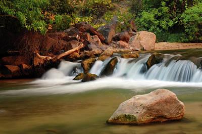 Zion National Park Photograph - Rapids, Virgin River, Zion National by Michel Hersen