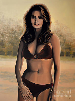 Rights Painting - Raquel Welch 2 by Paul Meijering