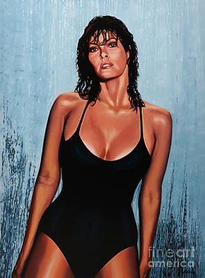 Raquel Welch Print by Paul Meijering