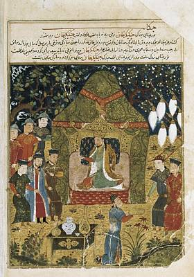 Yurts Photograph - Rashid Al-din 1247 - 1318. Compendium by Everett