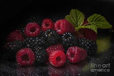 Raspberries And Blackberries Original by Natasha Breen