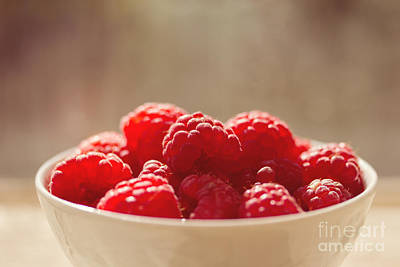 Red Fruit Photograph - Raspberries  by Diana Kraleva