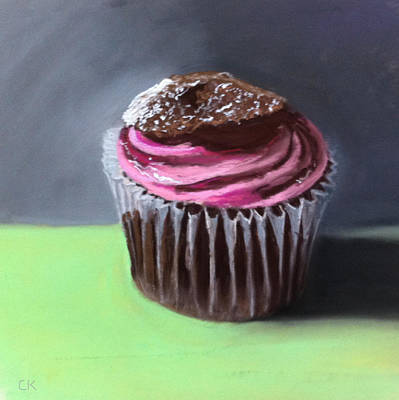 Raspberry Crisp Cupcake Original by Cristine Kossow