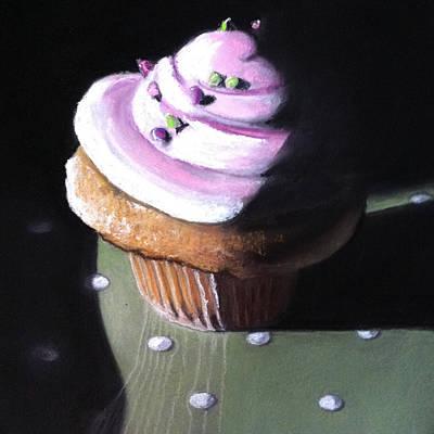 Raspberry Cupcake Original by Cristine Kossow