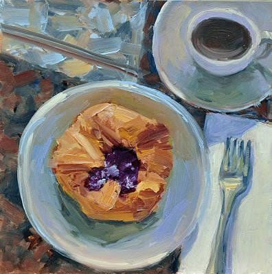 Painting - Raspberry Danish by Mary Byrom
